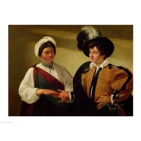 The Fortune Teller c1596-97 Canvas Art - Caravaggio (24 x
