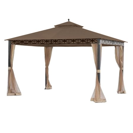 Garden Winds Replacement Canopy Top Cover for the Smith and Hawken Allogio Gazebo - Nutmeg ()