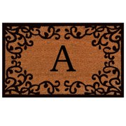 """Calloway Mills Chateaux Monogram Outdoor Doormat 24"""" x 36"""" (Letter A)"""