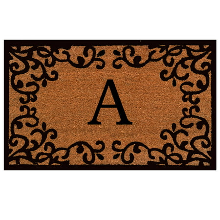36 Monograms Door Mat (Calloway Mills Chateaux Monogram Outdoor Doormat 24
