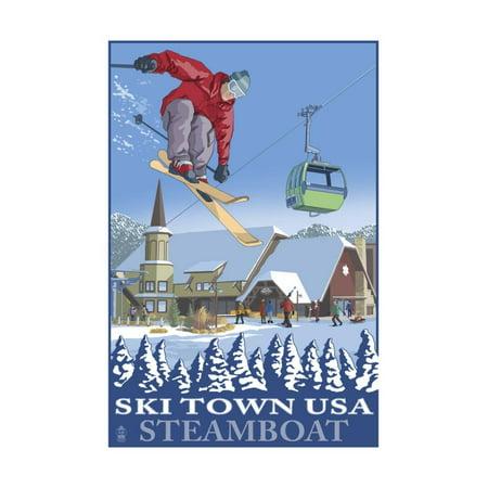 Ski Town USA - Steamboat, Colorado Print Wall Art By Lantern