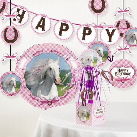 The Party Aisle Heart My Horse Birthday Party Decoration Kit