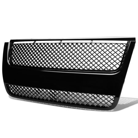 For 07-10 Ford Explorer ABS Plastic Mesh Bentley Style Front Bumper Grille (Black) - 4th Gen U251 08 09