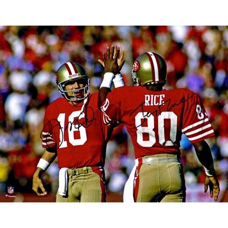 Joe Montana, Jerry Rice San Francisco 49ers Dual Signed 11