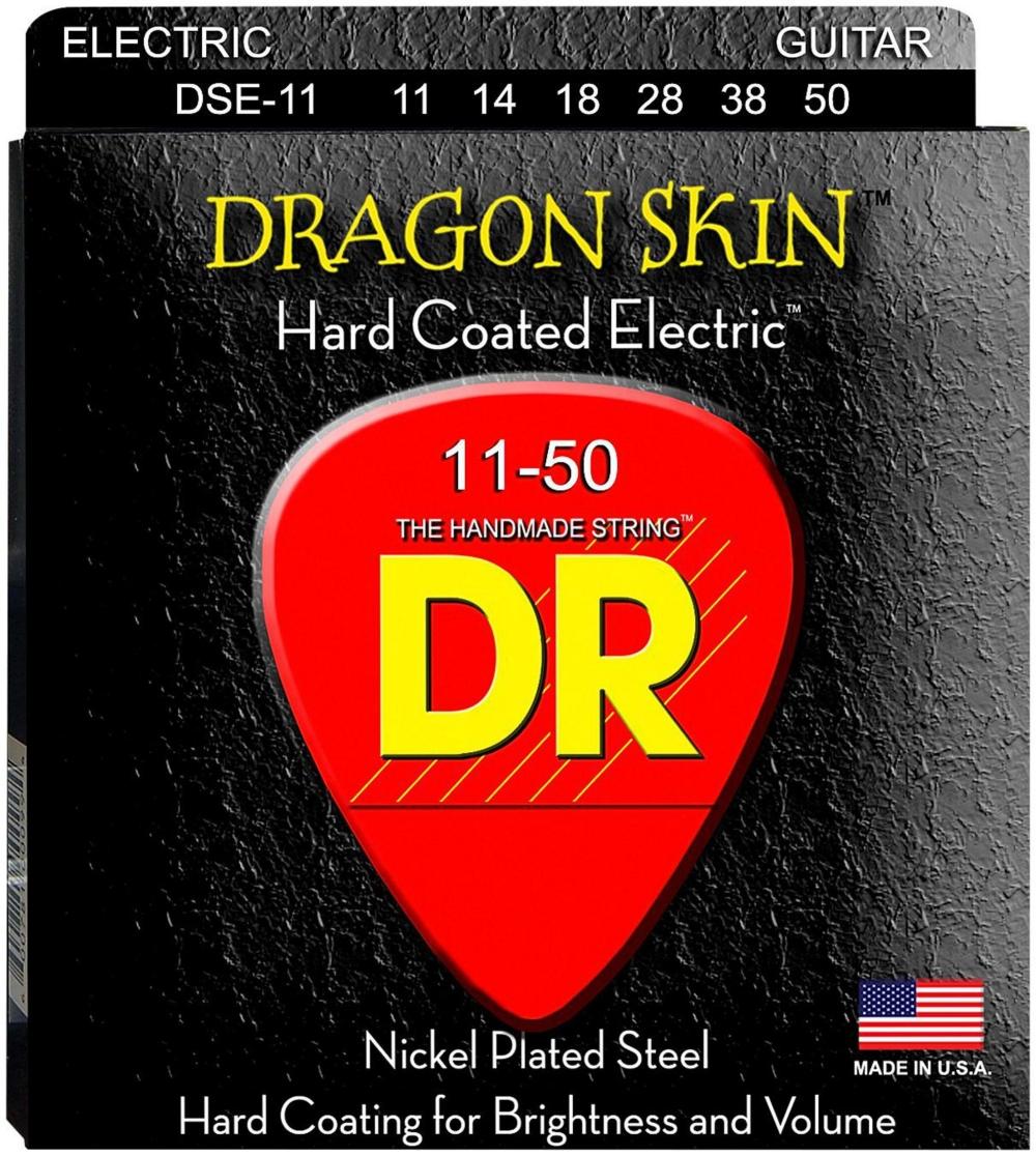 DR Strings DSE-11 Dragon Skin Coated Heavy Electric Guitar Strings by DR Strings