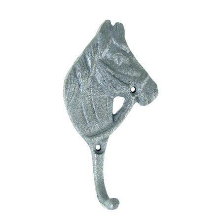 Metal Horse Head Key Hook Coat Hanger Metal Western Riding Gear Holder Hat (Weston Gear)