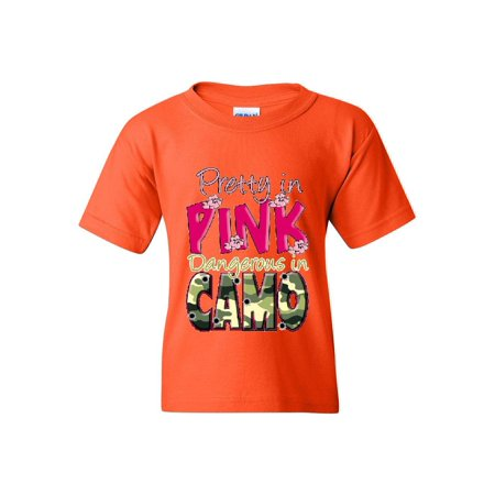 Pretty in Pink Dangerous in Camo Unisex Youth Shirts T-Shirt Tee