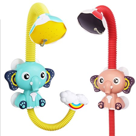 FANNI Baby Bath Toys Electric Elephent Animal Sucker Electric shower Rain Head - image 8 of 10