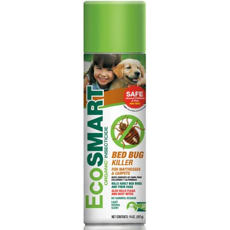 Image of EcoSMART Organic Bed Bug Killer Spray for Mattresses and Carpets, 14 oz
