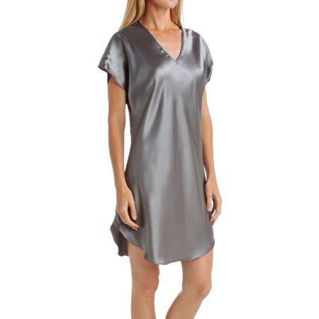 Women's Amanda Rich 412-40 Bias Cut Satin T-Shirt Gown