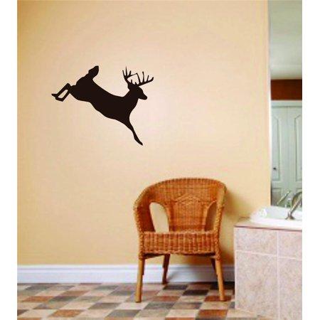 Jumping Vinyl Decal Sticker (Custom Wall Decal Jumping Running Deer Buck Image 8