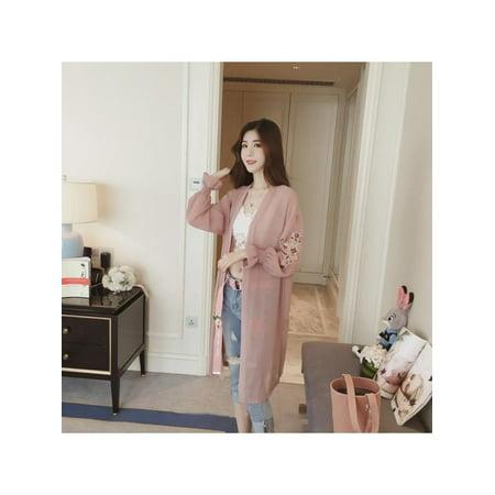 Lavaport Women Summer Floral Flare Sleeve Chiffon Kimono Long Cardigan Jacket Coat Blouse