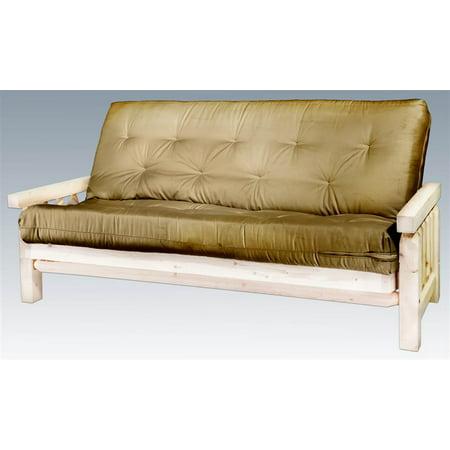 futon frame with mattress