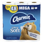 Charmin Ultra Soft Toilet Paper, 12 Mega Rolls, 3168 Sheets