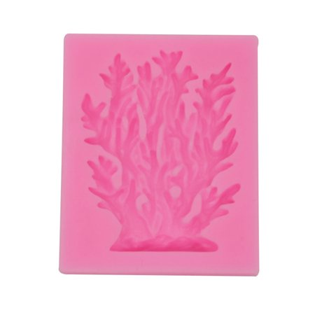 Coral Sugarcraft Silicone Mold 3D Seaweed Cupcake Kitchen Cake Mould Soap Candy Chocolate Baking Tools