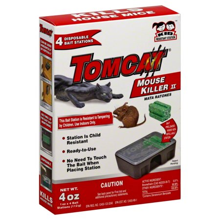 Tomcat Mouse Killer II Disposable Bait Stations, 4 count Advance Termite Bait Station