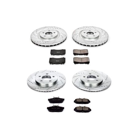 Power Stop K4042 Z23 Evolution Sport Upgrade Brake Kit -Front & Rear