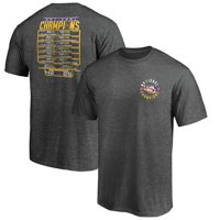LSU Tigers Fanatics Branded College Football Playoff 2019 National Champions Schedule Fumble T-Shirt - Heather Charcoal