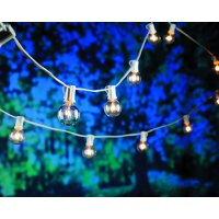 Better Homes & Gardens Bhg G40 Clear Glass/wht Wire String Lite