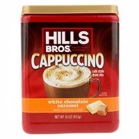 (2 Pack) Hills Bros. White Chocolate Caramel Cappuccino Instant Coffee Powder Drink Mix, 16 Ounce Canister