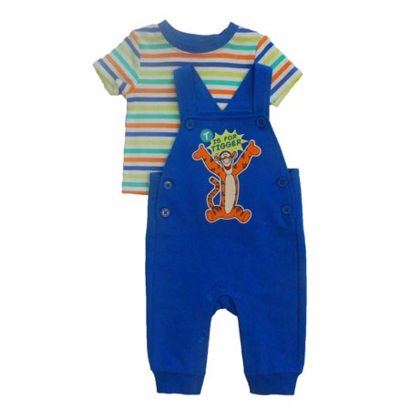 7afe23368 Disney - Disney Outfit Infant Boys T is For Tigger Jumper & Shirt Set -  Walmart.com