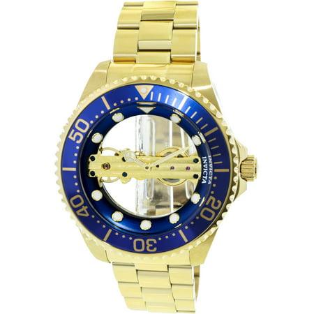 (Invicta 24695 Men's Pro Diver Ghost Bridge Blue & Gold Transparent Dial Watch)
