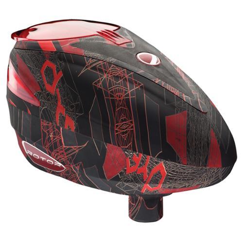 Dye Rotor Paintball Loader Hopper - Cubix Red
