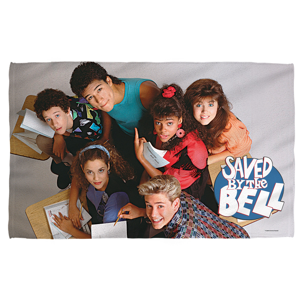 Saved By The Bell Group Shot Bath Towel White 27X52