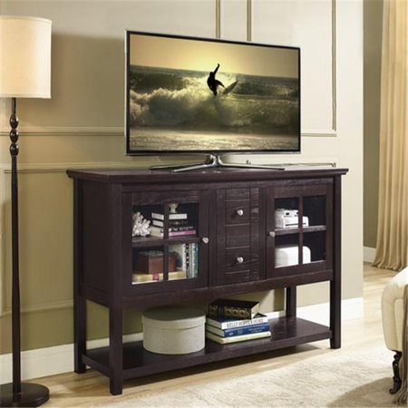 Walker Edison W52C4CTES 53 x 35 inch Wood Console Table TV Stand – Espresso