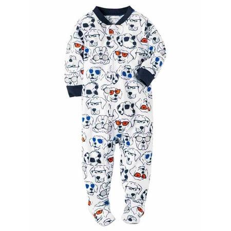 Carters Infant Boys Puppy Dogs Sunglasses Sleep & Play Pajama Sleeper