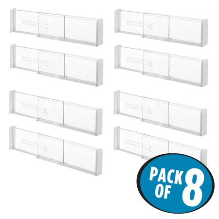 Adjustable Drawer Organizer (InterDesign Linus Adjustable Deep Drawer Organizer Dividers, Pack of 8 )