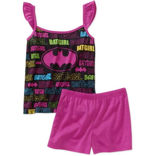 DC Comics - Girls Batman 2 Piece Tank and Short Pajama Set