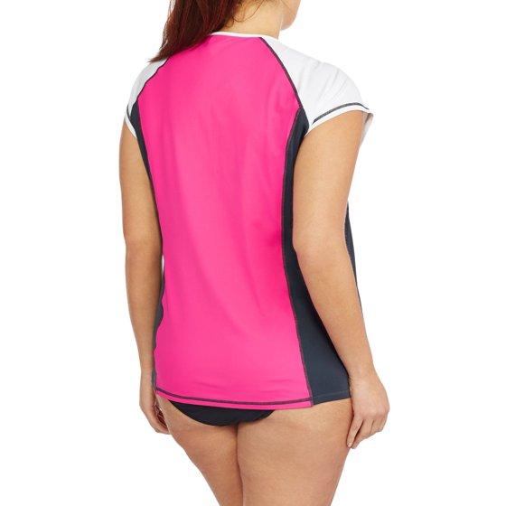 28e1c3cece Free Tech - Women s Plus-Size Colorblock Rashguard Swim Cover-Up ...