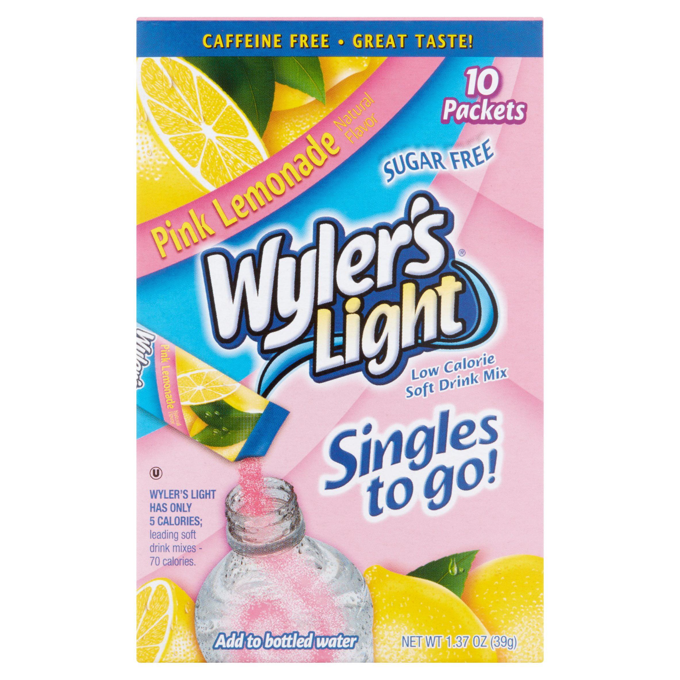 Wyler's Light Pink Lemonade Low Calorie Drink Mix, 10 count, 1.36 oz