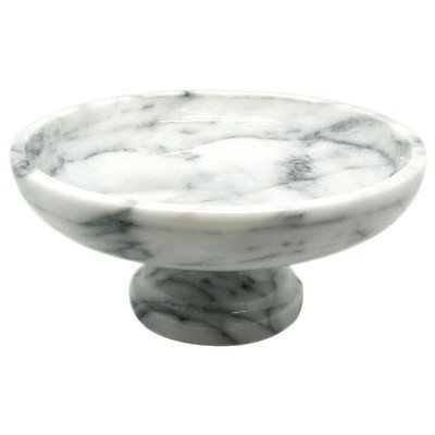 Creative Home Marble Fruit Bowl on Pedestal, 10