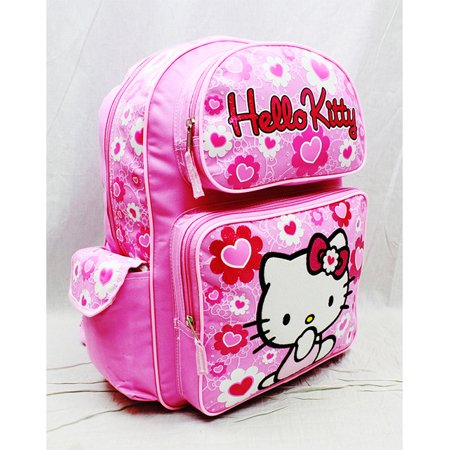 Hello Kitty Backpack Pink Flower Bow Large Girls School Bag New 84017 - image 3 of 3