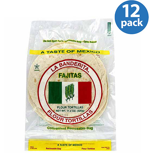 La Banderita Fajitas Flour Tortillas, 11.2 oz (Pack of 12)