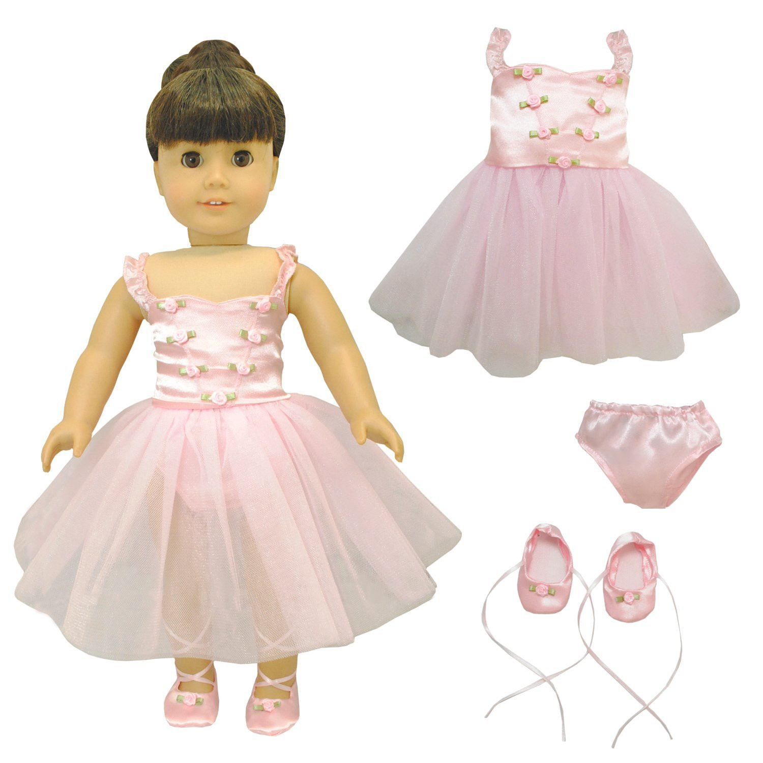 Ballet Ballerina Dress Outfit Doll Clothes Accessories Fits American Girl My Generation &... by