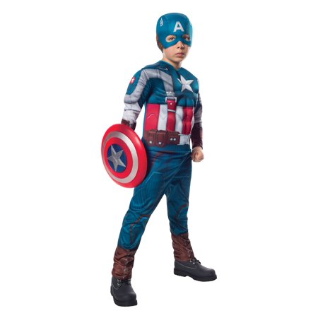 Captain America Costume Girls (Child retro captain america costume by rubies 885079 L)