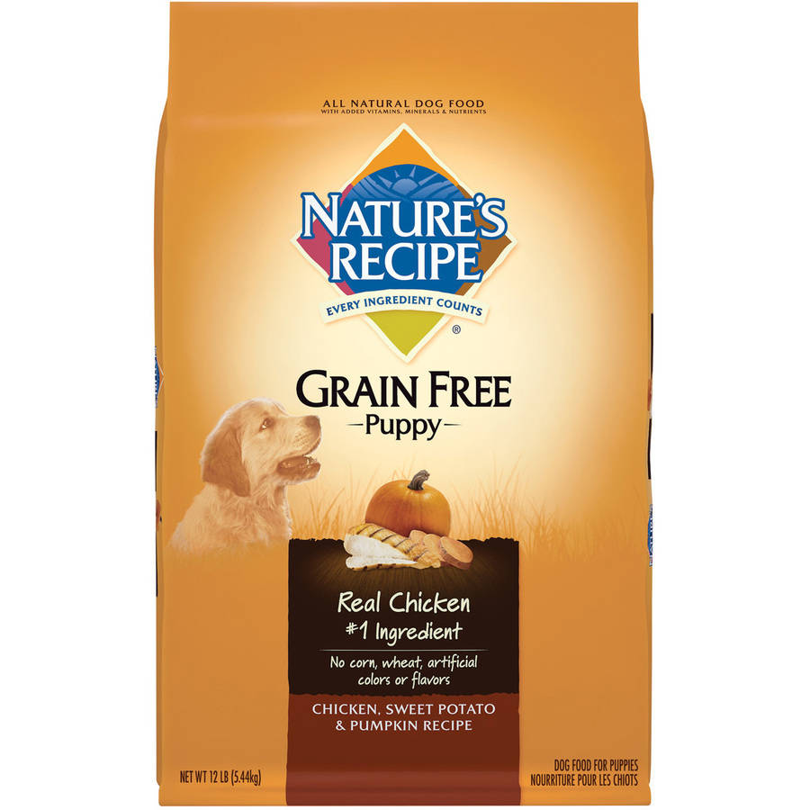 Nature's Recipe Grain Free Puppy Chicken, Sweet Potato and Pumpkin Recipe Dry Dog Food, 12 lbs