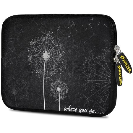Designer 7.75 Inch Soft Neoprene Sleeve Case Pouch for Alcatel ONETOUCH POP 7 LTE, Acer Iconia One 7, LG G Pad, Amazon Fire 7, Kindle/ Kindle HD 7, RCA 7 Tablet - Dandilions - Neoprene Kindle Dx Sleeve