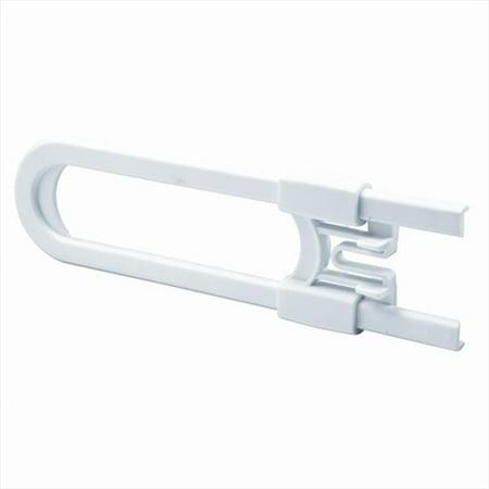 Plastic Cabinet Slide Lock, White, Pack of 6