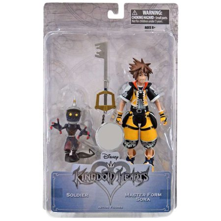 Disney Kingdom Hearts Master Form Sora & Soldier Action Figure 2-Pack - Sora Kingdom Hearts 2 Halloween Town