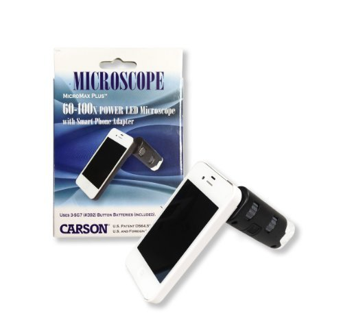 Carson Optical MM-250 Carson Mm-250 Micromax Plus Iphone[r] 4/4s Adapter Microscope