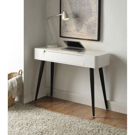Deck Console - 4D Concepts Black & White Console Desk with Drawer