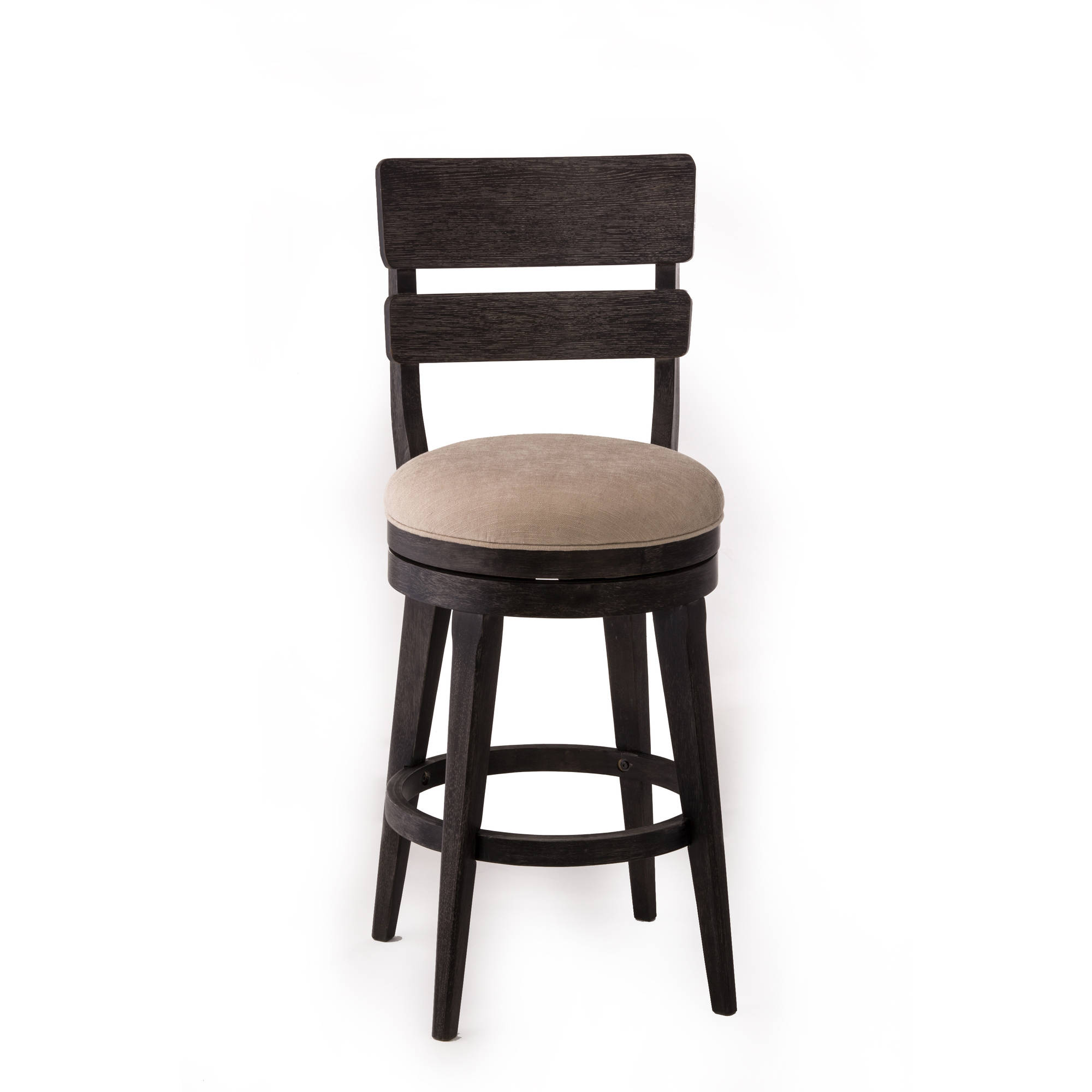 Leclair Swivel Counter Stool, Black Wire Brushed Finish by Hillsdale Furniture