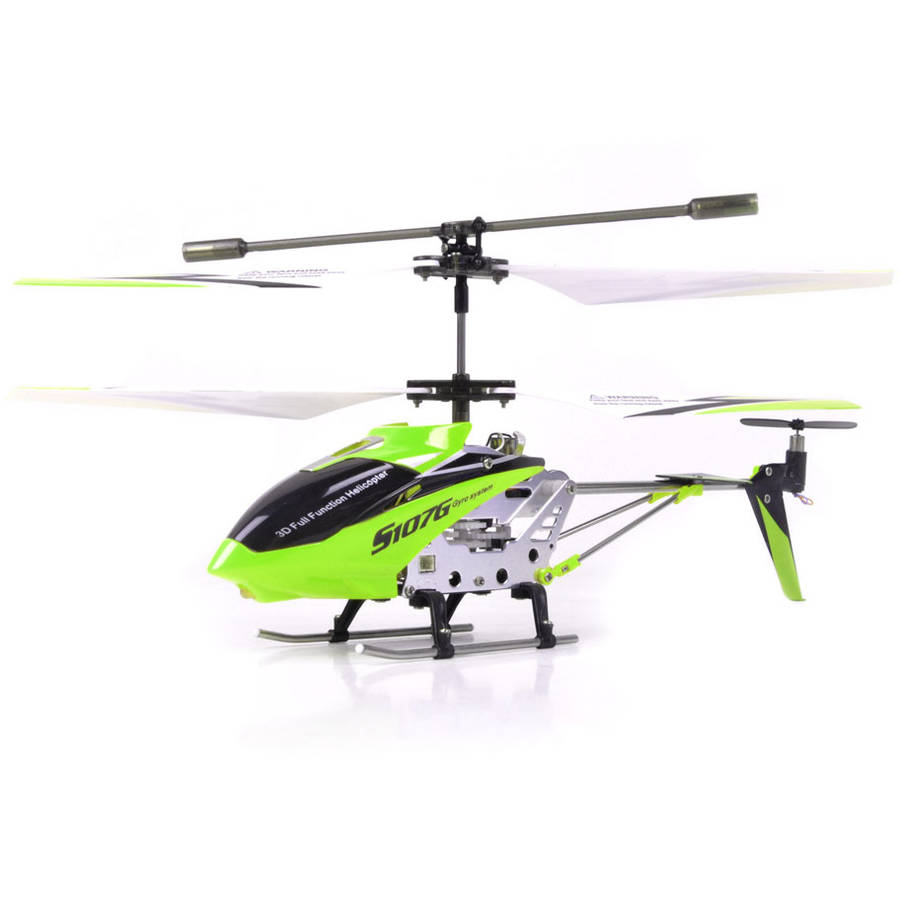 Syma S107G 3 Channel RC Helicopter with Gyro, Green