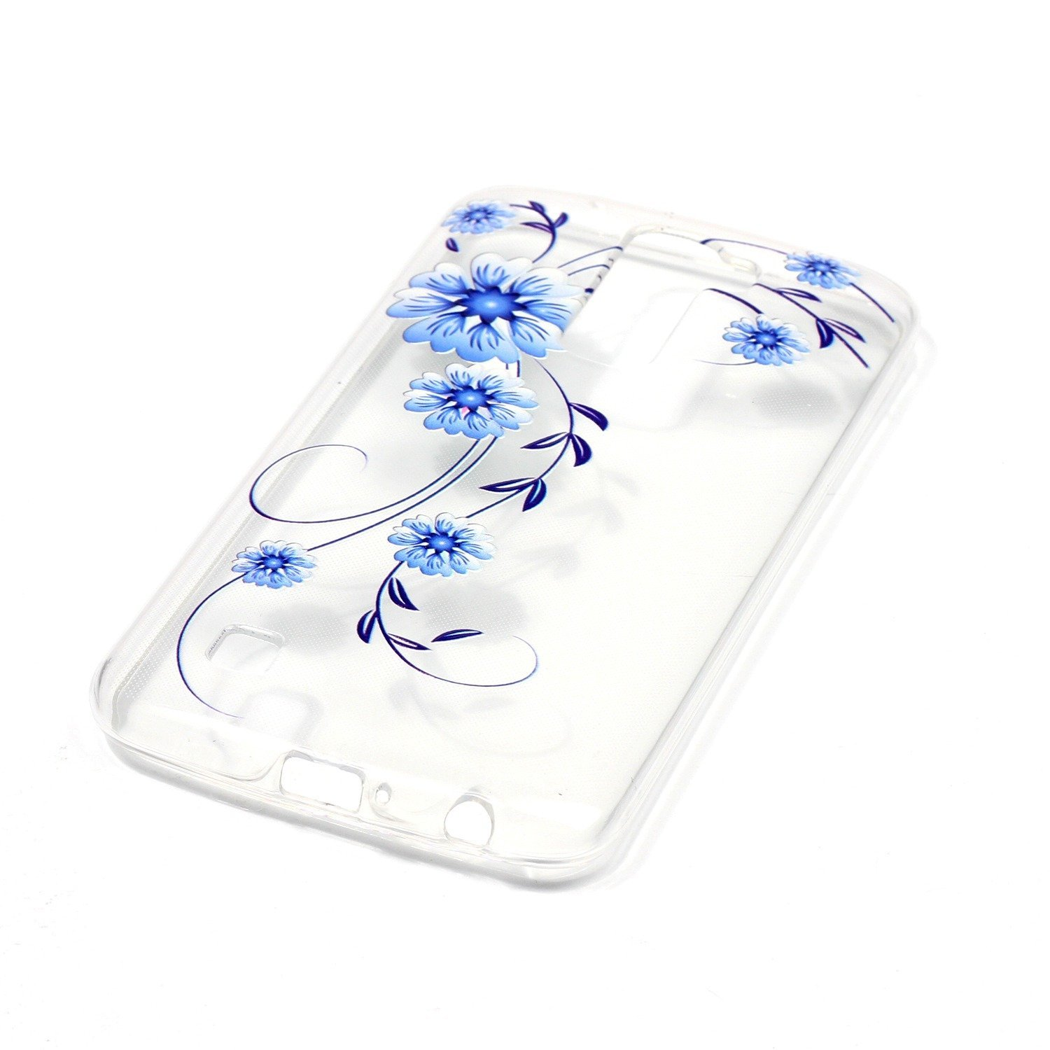 LG K10 Case, Premier LTE Case, TPU Silicone Transparent Ultra Thin Design Soft Back Cover with Embossed Pattern Small 0rchid For LG K10 4G LTE K420N K430 ...
