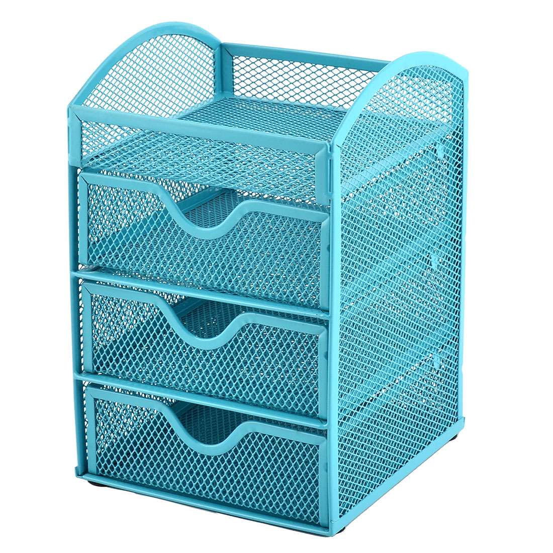 UXcell Office School Metal Mesh 3 Compartment Pen Holder ...