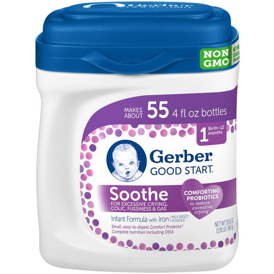 Gerber Good Start Soothe Non-GMO Powder Infant Formula, 30.6 Ounce
